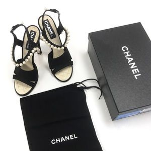 Chanel Pearl Strap Sandals 👡 $750
